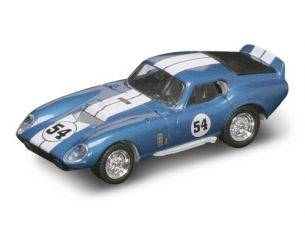 Hot Wheels LDC94242BW SHELBY COBRA DAYTONA COUPE' 1965 N.54 BLUE/WHITE 1:43 Modellino