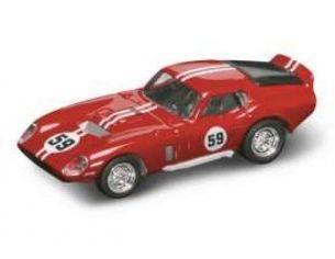 Hot Wheels LDC94242R SHELBY COBRA DAYTONA COUPE' 1965 N.59 RED/WHITE 1:43 Modellino