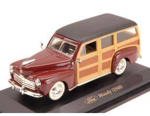 Hot Wheels LDC94251AM FORD WOODY HARD TOP 1948 AMARANT 1:43 Modellino