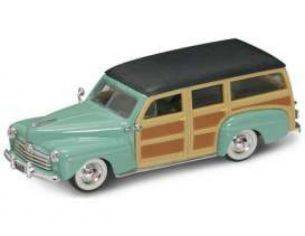 Hot Wheels LDC94251GN FORD WOODY 1948 TURQUOISE 1:43 Modellino