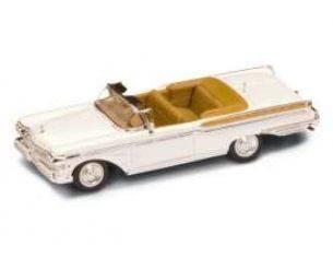 Hot Wheels LDC94253W MERCURY TURNPIKE CRUISER 1957 WHITE 1:43 Modellino