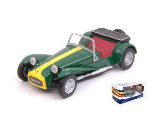 Solido SL4400500 LOTUS SEVEN 1967 GREEN/YELLOW 1:43 Modellino