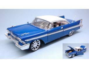 Motormax MTM79011BL PLYMOUTH FURY CUSTOM HOT ROD 1958 WITH NEW RIMS BLUE 1:18 Modellino