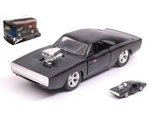 JADA TOYS JADA97042 DOM S DODGE CHARGER R/T 1970 FAST & FURIOUS 7 BLACK 1:32 Modellino