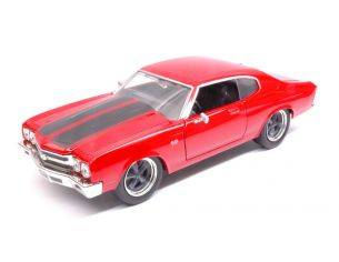 Jada JADA97193 DOM'S CHEVY CHEVELLE SS 1969 FAST & FURIOUS 7 GLOSS RED 1:24 Modellino