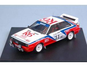Trofeu TF1628 AUDI QUATTRO R6 N.11 ACCIDENT MONTECARLO 1982 M.CINOTTO-E.RADAELLI 1:43 Modellino