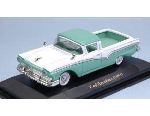 Hot Wheels LDC94215GR FORD RANCHERO 1957 LIGHT GREEN/WHITE 1:43 Modellino