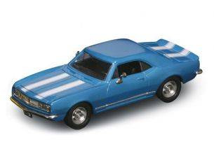 Hot Wheels LDC94216B CHEVROLET CAMARO Z-28 1967 BLUE W/WHITE STRIPES 1:43 Modellino