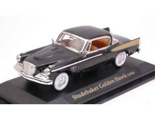 Hot Wheels LDC94254BK STUDEBAKER GOLDEN HAWK 1958 BLACK 1:43 Modellino