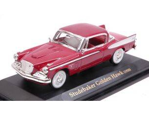 Hot Wheels LDC94254DR STUDEBAKER GOLDEN HAWK 1958 DARK RED 1:43 Modellino