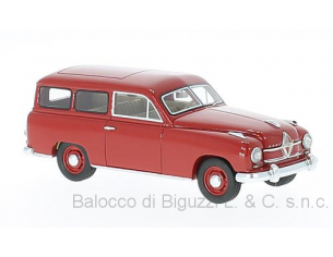Neo Scale Models NEO47110 BORGWARD HANSA 1500 STATION WAGON 1951 RED 1:43 Modellino