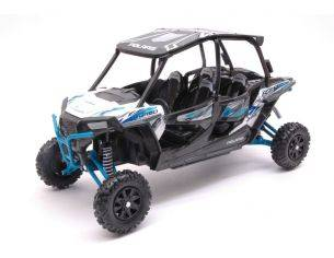 New Ray NY57843W POLARIS RZR XP TURBO EPS WHITE 1:18 Modellino