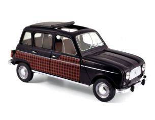 Norev NV185242 RENAULT 4 PARISIENNE 1964 BLACK & RED 1:18 Modellino