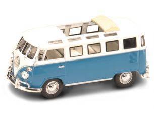 Hot Wheels LDC43208BL VW MICROBUS 1962 BLUE/WHITE 1:43 Modellino