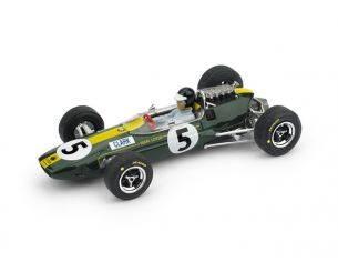 Brumm BM0590CHOLD LOTUS 33 J.CLARK 1965 N.5 WINNER INGHILTERRA GP + PILOTA 1:43 Modellino