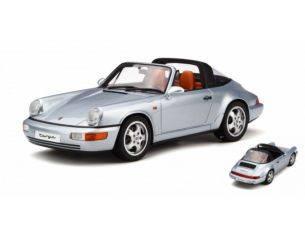 Ixo model GT185 PORSCHE 911 (964) TARGA SILVER 1:18 Modellino