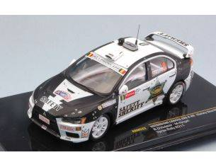 Ixo model RAM533 MITSUBISHI LANCER EVO X RALLY BELGIO 2011 SAFETY CAR 1:43 Modellino