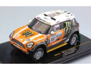 Ixo model RAM575 MINI ALL 4 N.307 3rd DAKAR 2013 L.MOVITSKLY-K.ZHILTSOV 1:43 Modellino