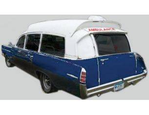 Kess Model KS43026001 PONTIAC SUPERIOR BONNEVILLE AMBULANCE 1963 BLUE WHITE 1:43 Modellino