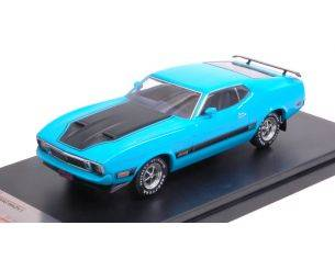 Protar PRXD399J FORD MUSTANG MACH 1 WITH SPOILERS 1973 BLUE 1:43 Modellino