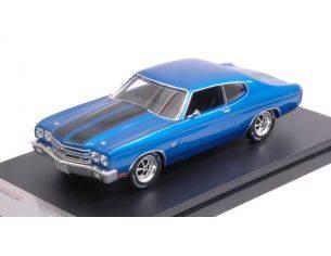 Protar PRXD464 CHEVROLET CHEVELLE SS 1970 BLUE/BLACK 1:43 Modellino