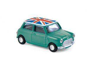 Norev NV310509 MINI COOPER S 1963 GREEN & WHITE 1:64 Modellino