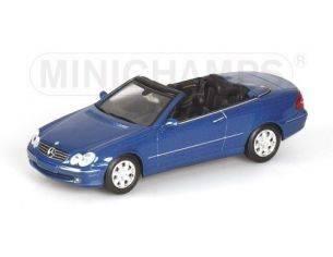 Minichamps PM400031431 MERCEDES CLK CABRIO 2003 BLUE 1:43 Modellino