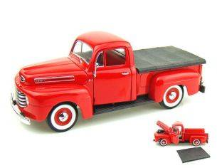 Hot Wheels LDC92218R FORD F 1 PICK UP 1948 RED 1:18 Modellino