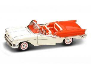Hot Wheels LDC92758OR OLDSMOBILE SUPER 88 1957 ORANGE/WHITE 1:18 Modellino