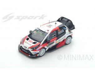 Spark Model S5164 TOYOTA YARIS WRC N.11 16th MONTE CARLO 2017 J.HANNINEN-K.LINDSTROM 1:43 Modellino