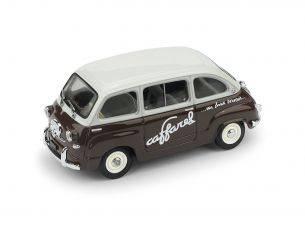 Brumm BM0595 FIAT 600 MULTIPLA CIOCCOLATO CAFFAREL 1956 1:43 Modellino
