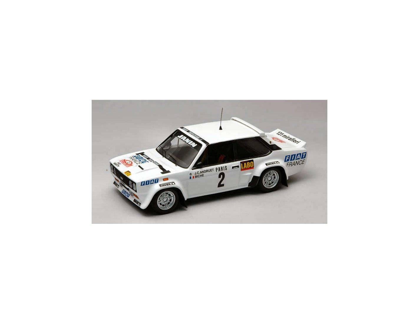Trofeu TF1404 FIAT 131 ABARTH N.2 2nd MONTE CARLO 1977 J.C.ANDRUET-BICHE 1:43 Modellino