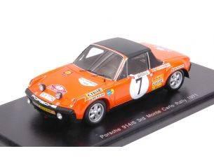 Spark Model S5582 PORSCHE 914/6 N.7 3rd MONTE CARLO 1971 B.WALDEGARD-H.THORZELIUS 1:43 Modellino