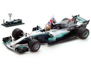 Spark Model S18312 MERCEDES F1 WO8 L.HAMILTON 2017 N.44 WORLD CHAMPION MEXICAN GP 1:18 Modellino