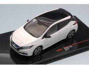 Ixo model MOC073 NISSAN LEAF 2018 WHITE 1:43 Modellino
