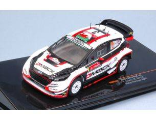 Ixo model RAM643 FORD FIESTA WRC N.3 6th RALLY PORTUGAL 2017 EVANS-BARRITT 1:43 Modellino