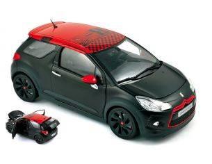 Norev NV181543 CITROEN DS3 RACING LOEB 2012 BLACK MATT & RED 1:18 Modellino