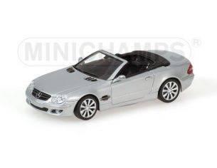 Minichamps PM400036130 MERCEDES SL 2005 SILVER 1:43 Modellino