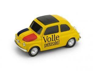 Brumm BMBR061 FIAT 500 BRUMS BELGIO VOLLE PETROLE/EEN FRIET JE STEKEN? 1:43 Modellino