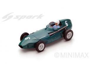 Spark Model S4871 VANWALL VW57 STUART LEWIS-EVANS 1958 N.6 3rd BELGIAN GP 1:43 Modellino