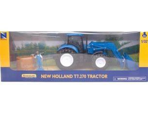 New Ray NY05523B NEW HOLLAND TRACTOR T7.270 BALLE FIENO 1:32 Modellino