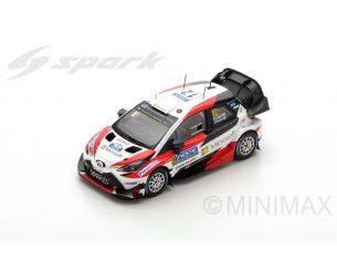 Spark Model S5169 TOYOTA YARIS WRC N.12 WINNER FINLAND RALLY E.LAPPI-J.FERM 1:43 Modellino