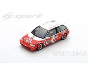 Spark Model SA127 HONDA CIVIC EF3 N.25 2nd MACAU GUIA RACE 1989 YASUO MURAMATSU 1:43 Modellino