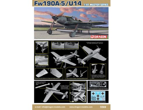 Dragon D5569 Fw190A-5/U-14 KIT 1:48 Modellino