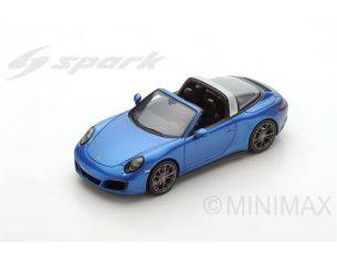 Spark Model S4977 PORSCHE 911 TARGA 4 S 2017 BLUE 1:43 Modellino