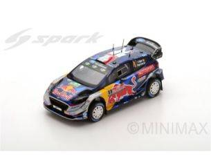 Spark Model S5175 FORD FIESTA WRC N.1 3rd GREAT BRITAIN 2017 S.OGIER-J.INGRASSIA 1:43 Modellino
