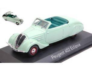 Norev NV474218 PEUGEOT 402 ECLIPSE 1937 LIGHT GREEN 1:43 Modellino