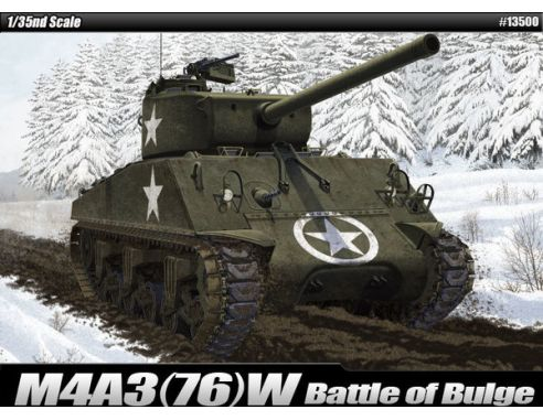 Accademy ACD13500 M4 A3 (76) W BATTLE OF BULGE KIT 1:35 Modellino