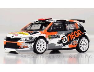 Ixo model RAM667 SKODA FABIA R5 WRC2 N.72 7th MONTE CARLO 2018  O.BURRI-A.LEVRATTI 1:43 Modellino