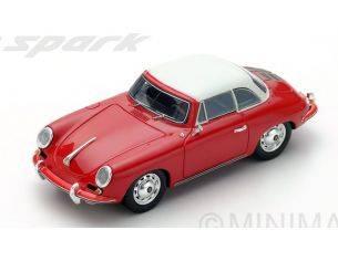 Spark Model S4922 PORSCHE 356 C CABRIO HARD TOP 1963 RED 1:43 Modellino